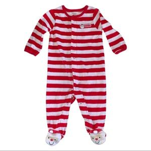 3/$15 Carter's My First Christmas Santa Footie 6M